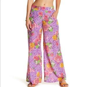 OndadeMar Swim Paisley Cotton Silk Pull On Pants